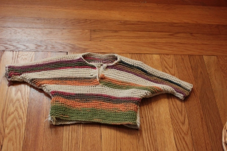 one-piece baby sweater